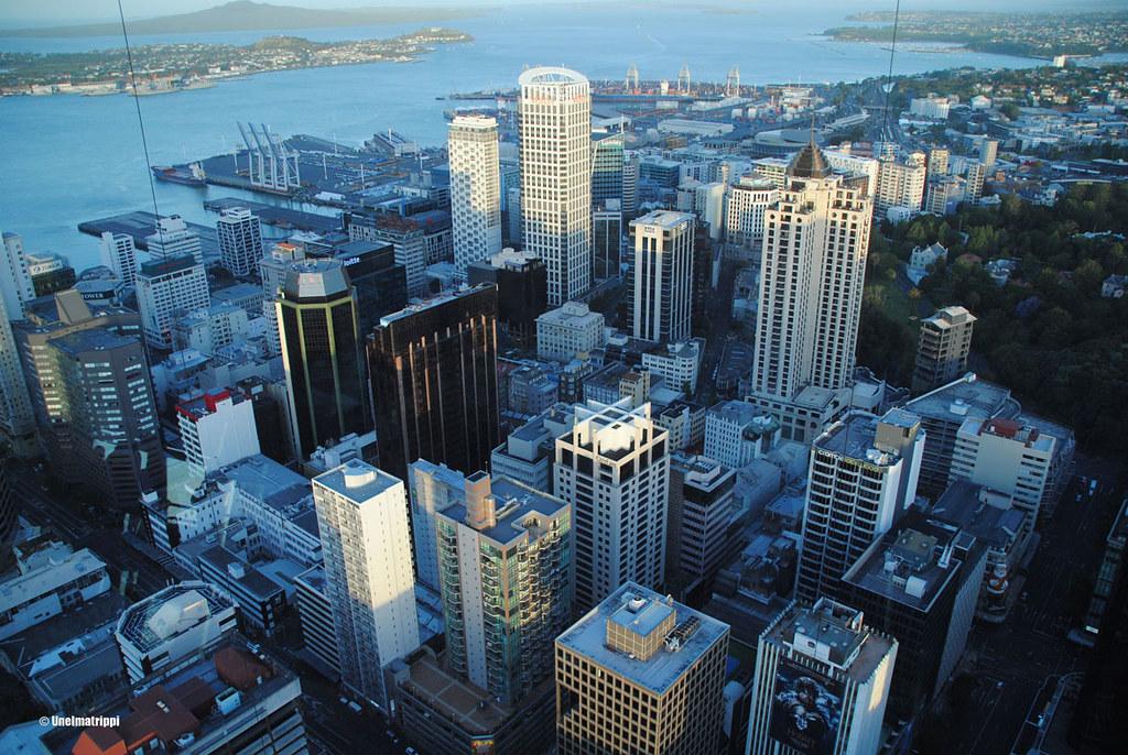 Tornitalomaisema Auckland Skytowerista, Uusi-Seelanti