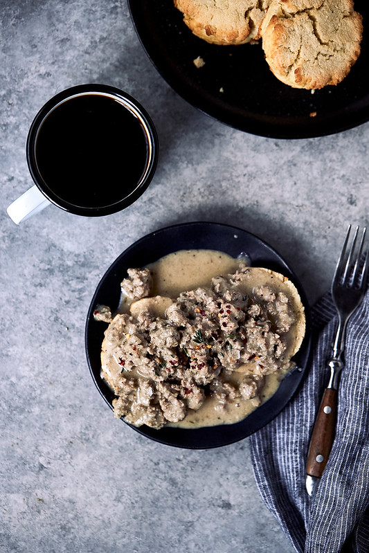 Paleo Biscuits and Gravy {gluten-free, low-carb, keto, dairy-free}
