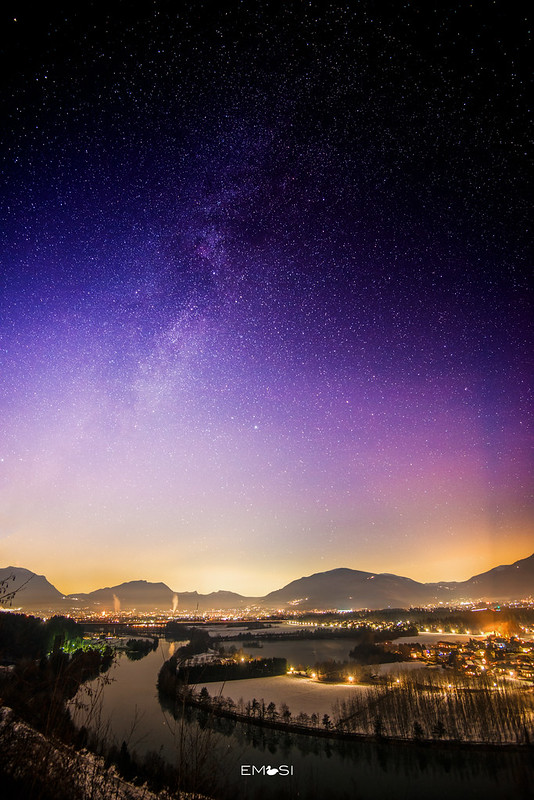 Starry night over Villach