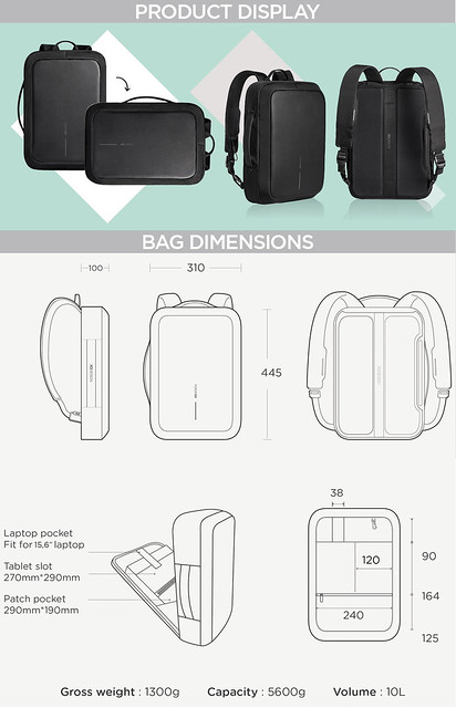 Bag Dimensions & Display