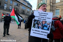 Protest for Ahed Tamimi, Edinburgh, UK, 6.1.2018