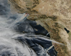 Most recent image from space reveals columns of smoke from California wildfires