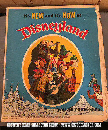 1972 Disneyland Country Bear Newspaper Supplement - Country Bear Collector Show #130