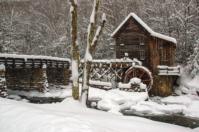 A Mill in Winter