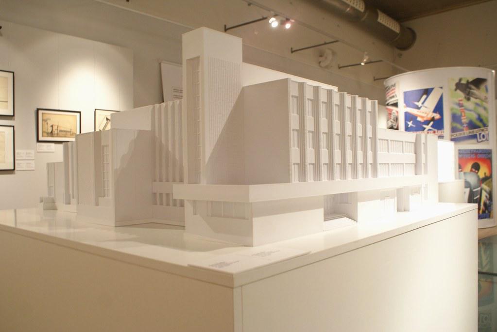 Maquette d'une construction (?) - Expo sur le modernisme à Lwow au MCK à Cracovie.