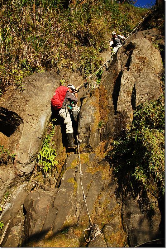 乾溪谷垂直石壁地形 8