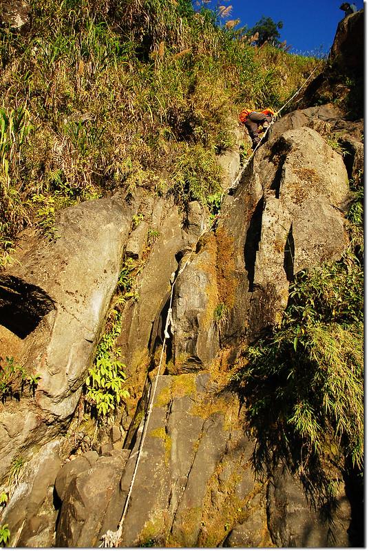 乾溪谷垂直石壁地形 6