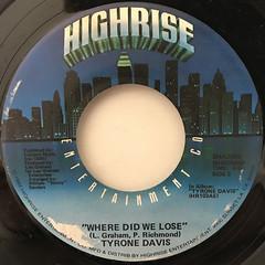 TYRON DAVIS:A LITTLE BIT OF LOVING(GOES A LONG WAY)(LABEL SIDE-B)