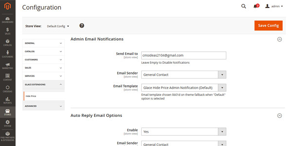 Magento 2 Extensie Verberg Prijzen, Stel notificaties in en richt autoresponders in
