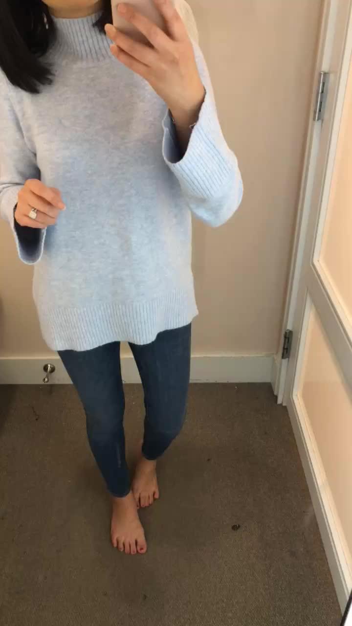 LOFT Mock Neck Swing Sweater, size XSP
