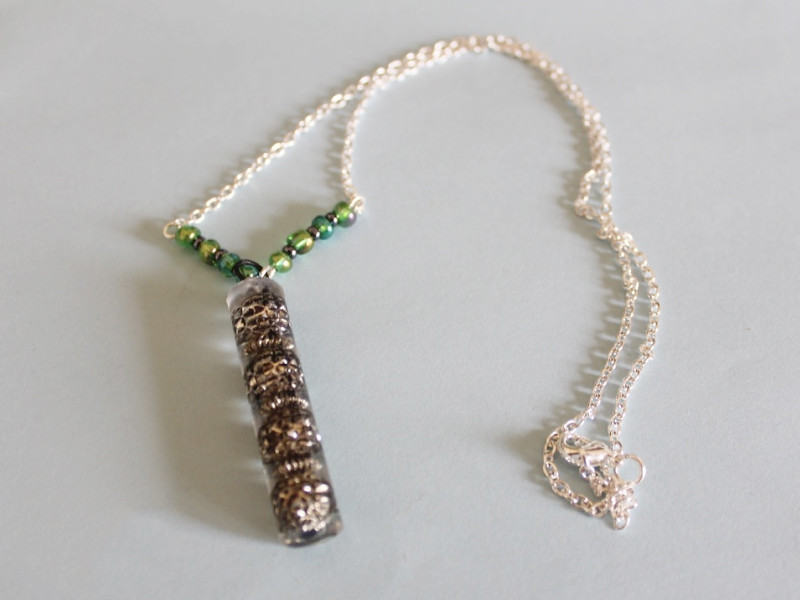 green and silver resin 1