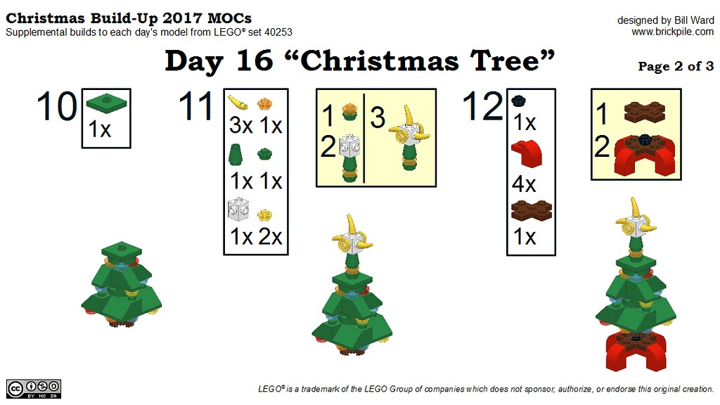 "Christmas Build-Up 2017 Day 16 MOC ""Christmas Tree"" Instructions p2"