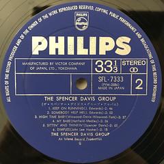 THE SPENCER DAVIS GROUP:THE SPENCER DAVIS GROUP ALBUM(LABEL SIDE-B)