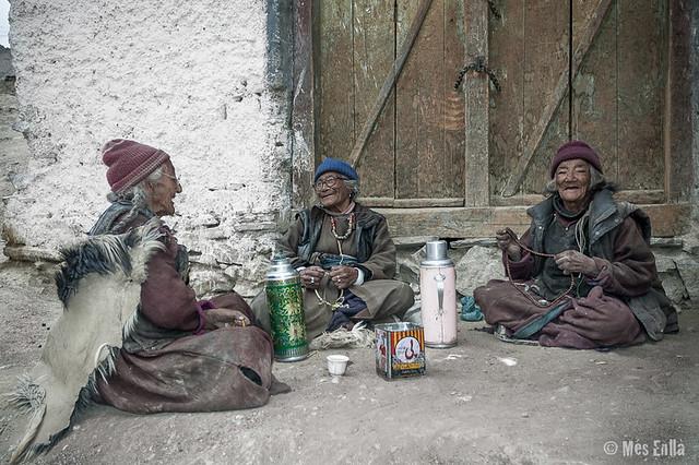 Mujeres de Ladakh en Lamayuru