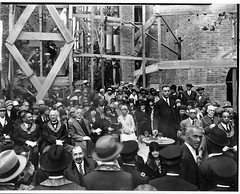 Rev. Brooks at cornerstone ceremony for Lincoln Temple: 1928