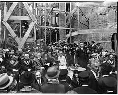 Rev. Brooks at cornerstone ceremony for Lincoln Temple: 1928