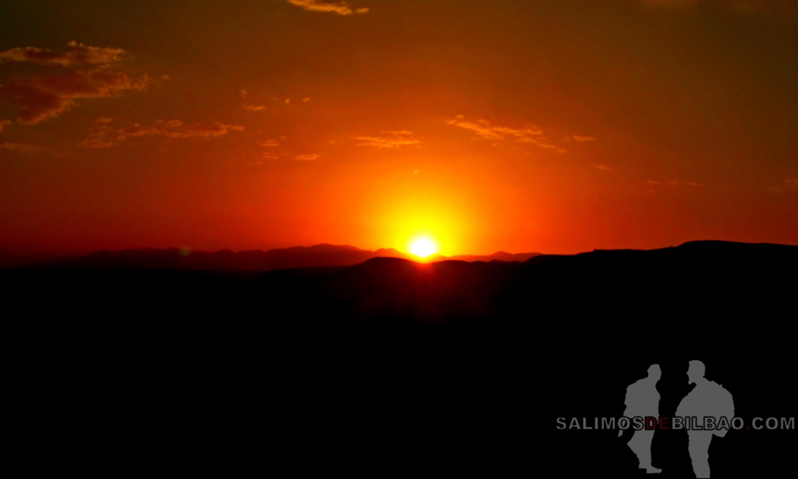 551. Pano, Puesta de sol, Vistas desde Kasbah Ait Ben Haddou