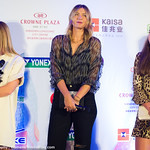 Simona Halep of Romania, Maria Sharapova of Russia, Jelena Ostapenko