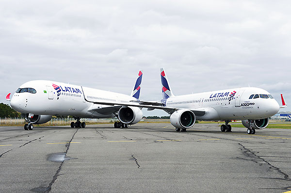 LATAM A320neo y A350 (Airbus)