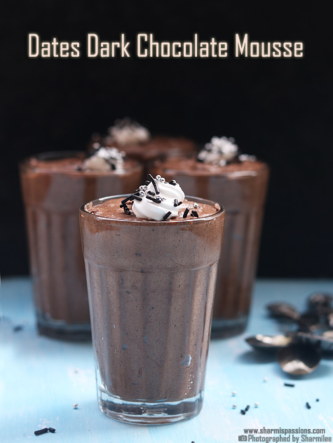 dates dark chocolate mousse recipe