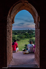 Staring out at the Bagan Plains waiting for the sun to set  - taken from inside a Buddhist stupa temple in Old Bagan, Myanmar
