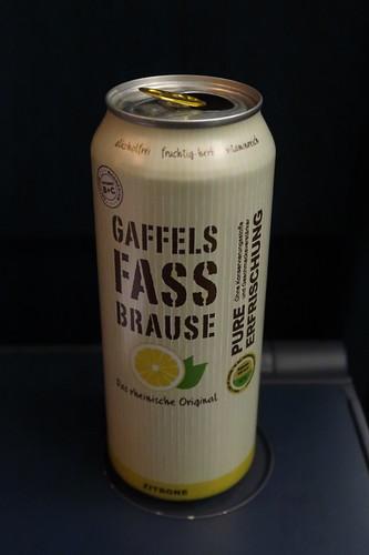 Gaffels Fassbrause Zitrone (im IC auf der Fahrt von Köln zurück nach Osnabrück)