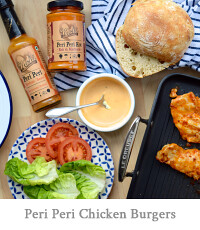 Cheeky Peri Peri Chicken Burgers