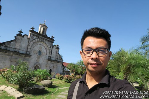 Philtranco Pampanga - Me in Sunken San Guillermo Church