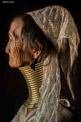 Portrait of a Kayan elderly woman