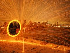 Fiery wheel