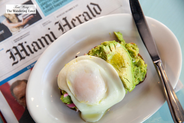 Avocado toast with sunny side up egg