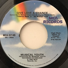 MUSICAL YOUTH:PASS THE DUTCHIE(LABEL SIDE-B)