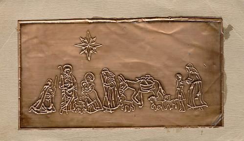 Χαλκογραφία - Χριστουγεννιάτικη κάρτα - 04