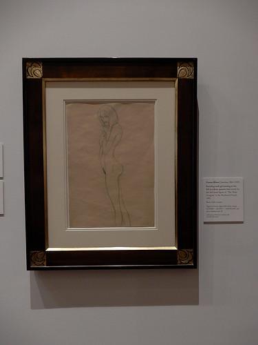 DSCN9987 _ Standing nude girl turning to  the left in a 3-quarter view, Klimt, 1901 - Klimt &  Rodin