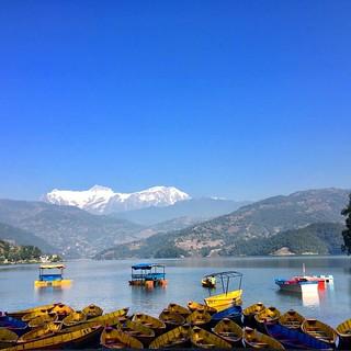 #begnaslake #boats #boating #mountains #landscape #photography #lake #mountains #bluesky #nature #photonepal
