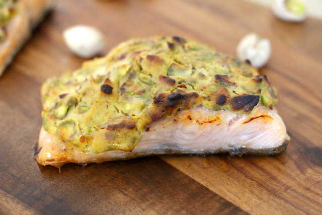 Salmon with Pistachio Crust