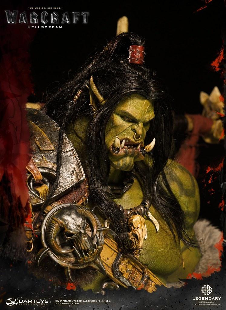 DAMTOYS《魔獸:崛起》葛羅瑪許·地獄吼 Warcraft Grommash Hellscream DMLW03 全身雕像作品