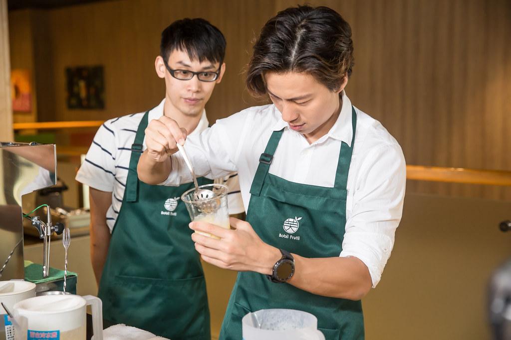 Bobii Frutii Brand Ambassador Nat Ho in apron