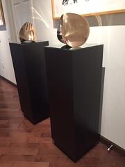 Black Laminate Pedestals with sculptures