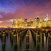 Manhattan Skyline at Sunset by rajaramki