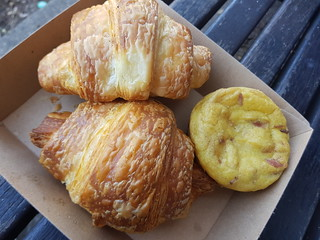 Croissantwiches of Eastwick and Egg and Bacon Frittata from Smith & Deli