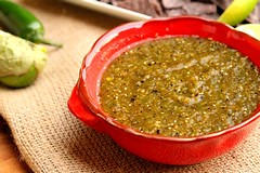 Roasted Tomatillo and Green Chili Salsa
