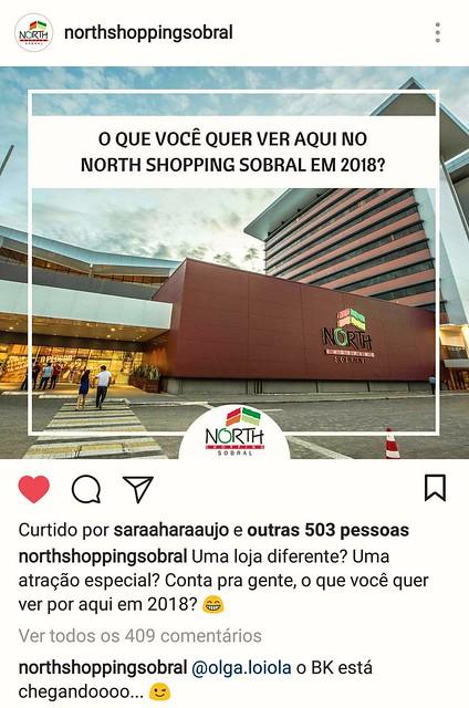eaba9912de329 Fonte  Página do North Shopping Sobral no Instagram