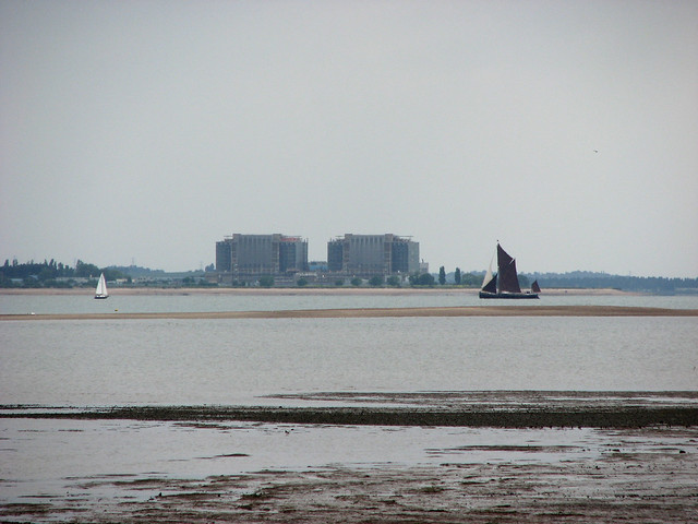 Bradwell Nuclear Power Station from Mersea Island