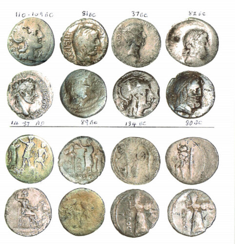 Silver Roman coin hoard