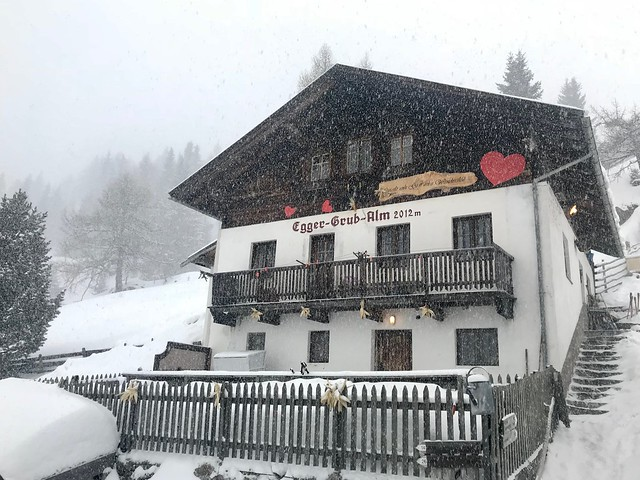 Egger-Grub-Alm Malga in the Snow