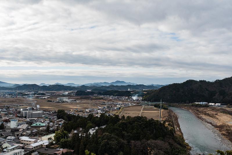 小倉山城から見る長良川