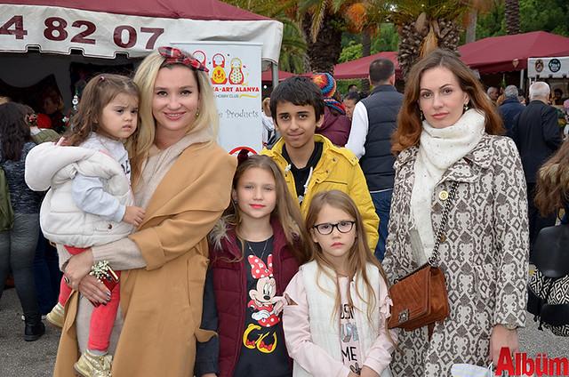 Yulia Barsan, Aryelika Bedie ve çocukları
