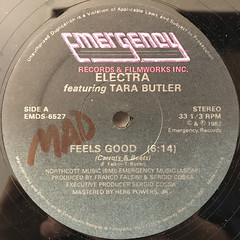ELECTRA FEATURING TARA BUTLER:FEELS GOOD(CARROTS & BEETS)(LABEL SIDE-A)