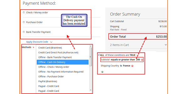 payment restrictions extension for Magento 2